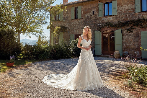 Leah EK1352 Eddy K A-Line Wedding Dress- To Order