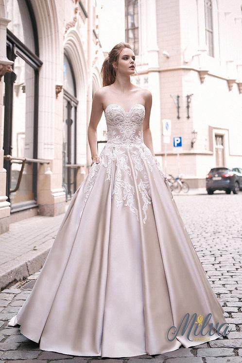 Melia Milva Ballgown Wedding Dress- To Order