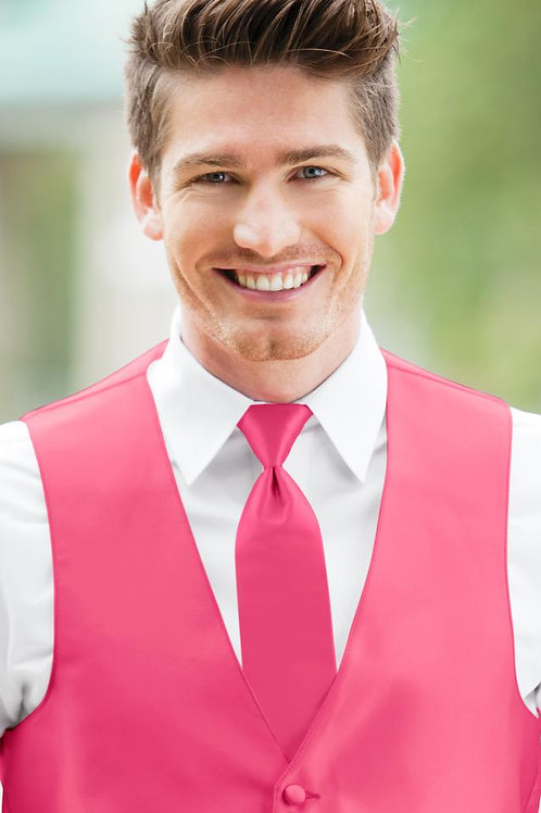 Solid Expressions Bright Pink Windsor Tie