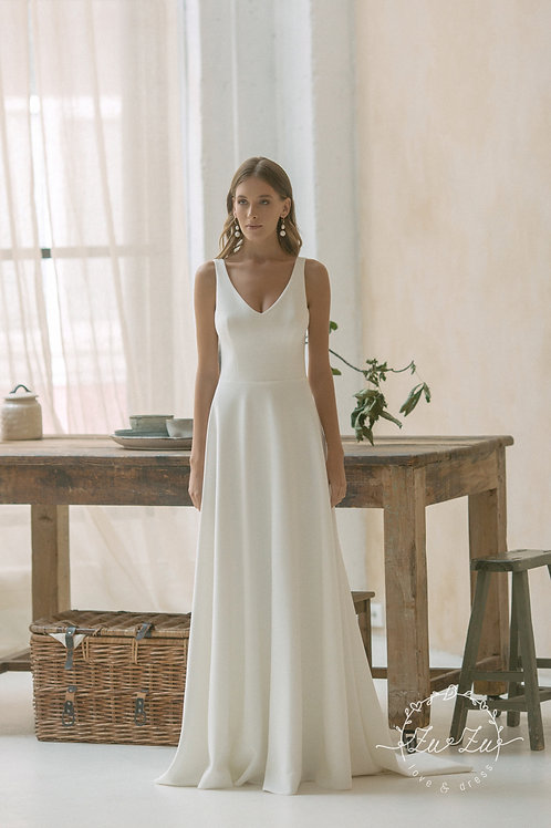 Ellada Zuzu Sheath Wedding Dress- To Order