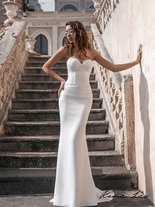 Elicka Rima Lav Fit & Flare Wedding Dress- To Order