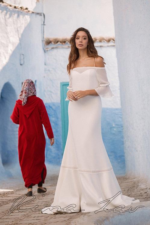 Dakota Rima Lav Sheath Wedding Dress- To Order