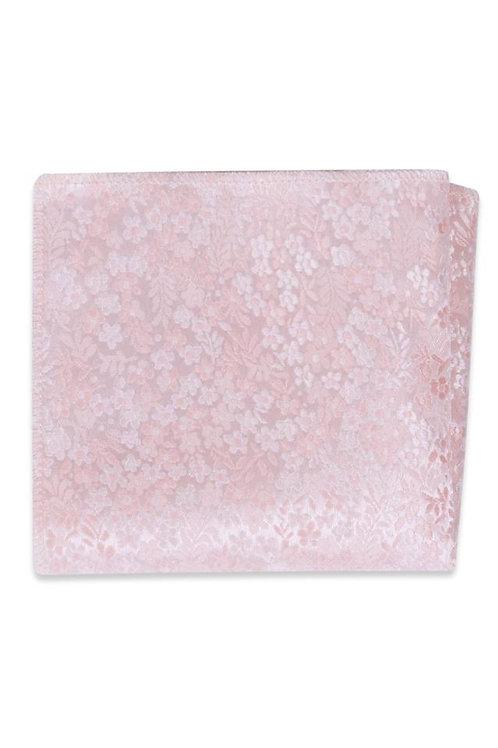Pink Floral Pocket Square