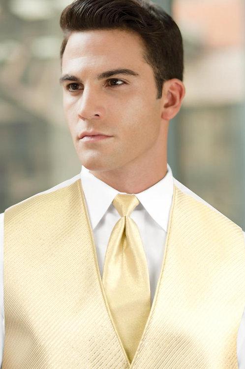 Solid Gold Metallic Windsor Tie