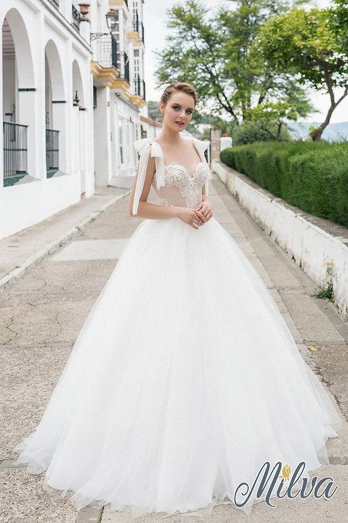 Joan Milva Ballgown Wedding Dress- To Order