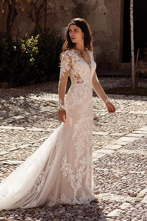 66084 Lillian West Fit & Flare Wedding Dress- To Order