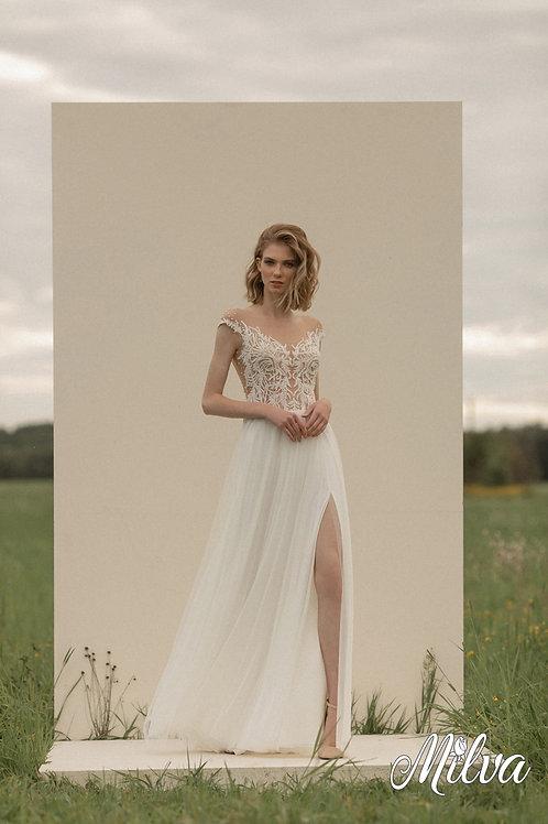 Jessa Milva Sheath Wedding Dress- To Order