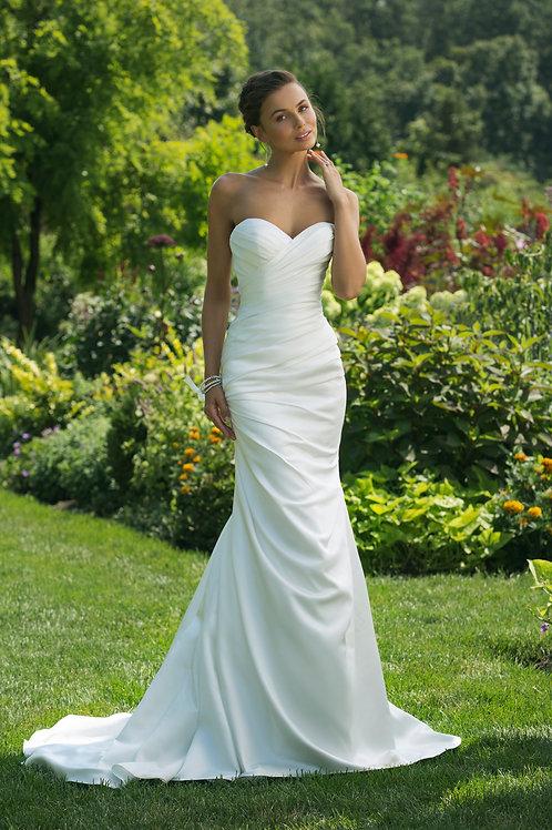 11016 Justin Alexander Sheath Wedding Dress- IN STOCK