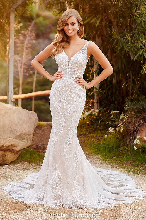 Torrance 220268 Martin Thornburg Fit & Flare Wedding Dress- In Stock