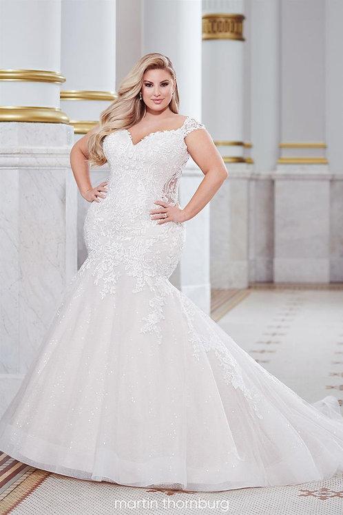 Belleau 220276 Martin Thornburg Trumpet Wedding Dress- In Stock