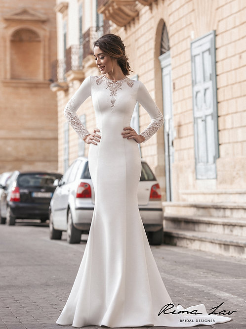 Shannen Rima Lav Fit & Flare Wedding Dress- To Order