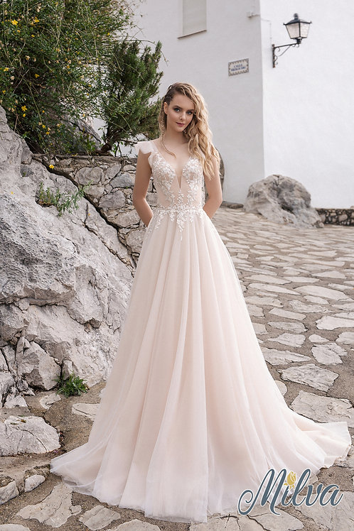 Linne Milva A-Line Wedding Dress- To Order
