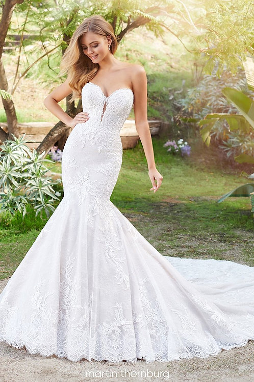Solana 220261 Martin Thornburg Trumpet Wedding Dress-In Stock