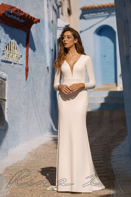 Evelyn Rima Lav Fit & Flare Wedding Dress- To Order