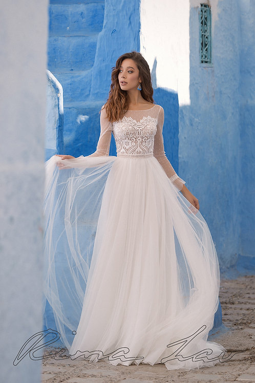 Violet Rima Lav Sheath Wedding Dress- To Order