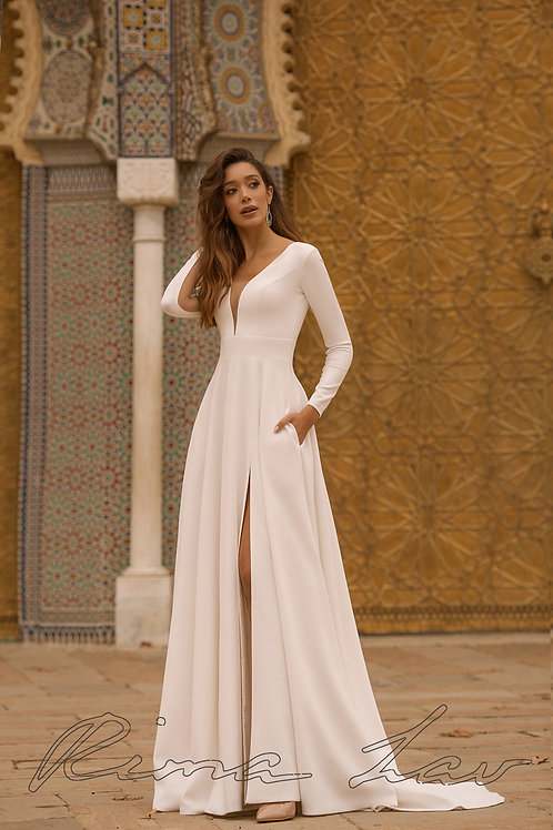 Beverly Rima Lav A-Line Wedding Dress- In Stock