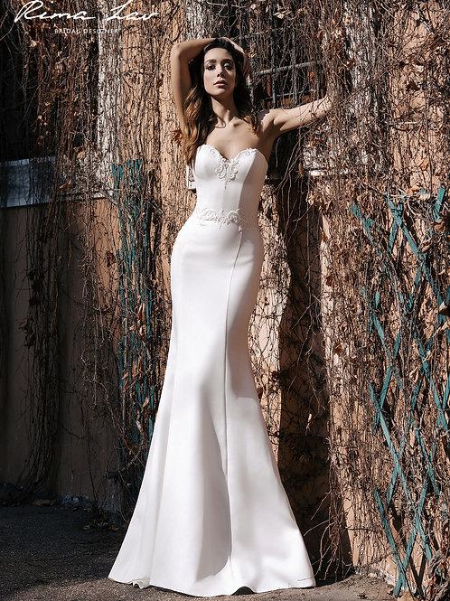 Aretha Rima Lav Sheath Wedding Dress- To Order