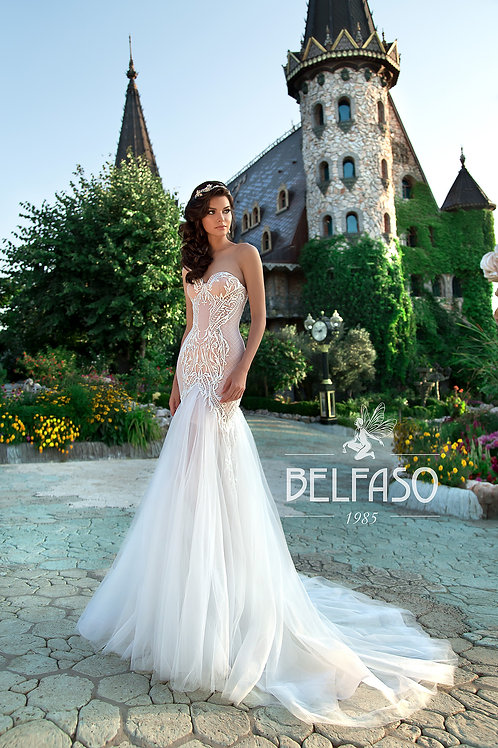 May Belfaso Trumpet Wedding Dress- To Order