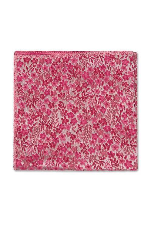 Bubblegum Pink Floral Pocket Square