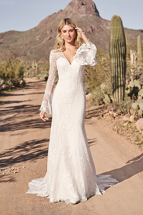 66169 Lillian West Fit & Flare Wedding Dress- To Order