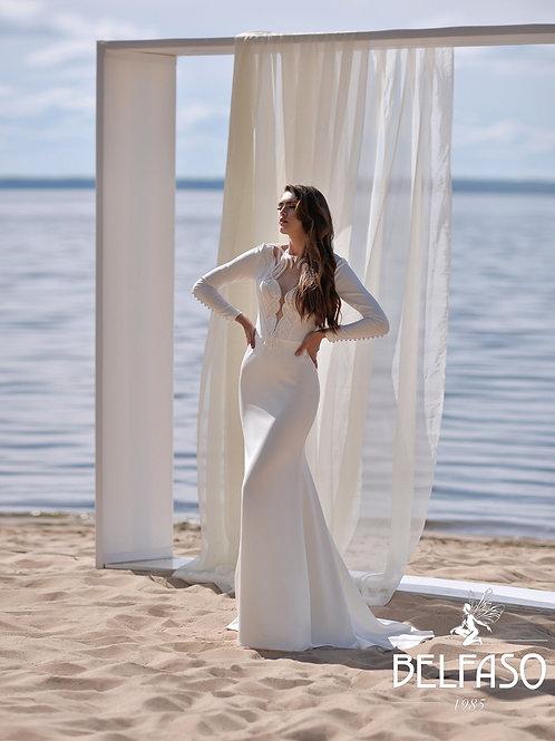 Brona Belfaso Fit & Flare Wedding Dress- To Order