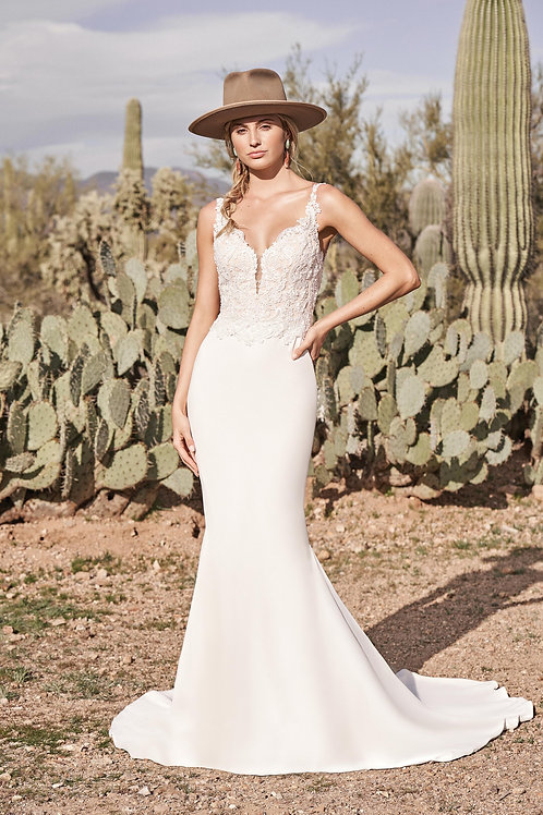 66156 Lillian West Fit & Flare Wedding Dress- To Order