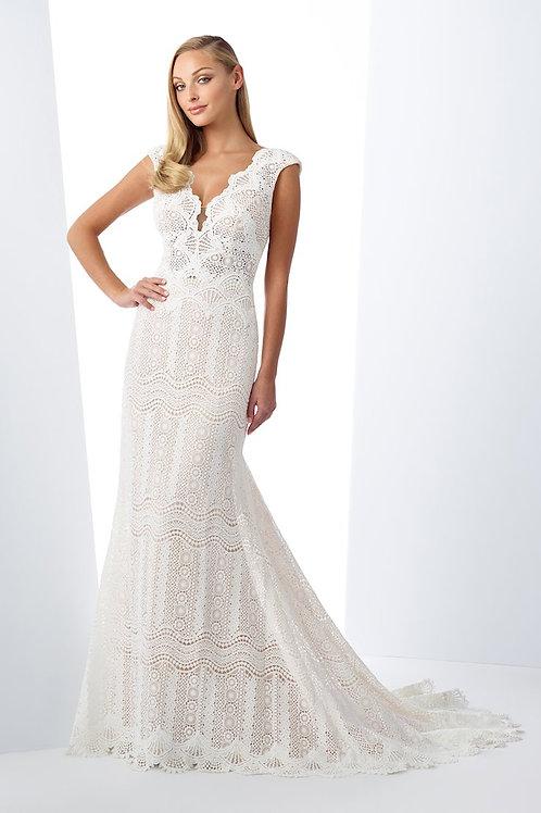 119102 Enchanting Sheath Wedding Dress- To Order