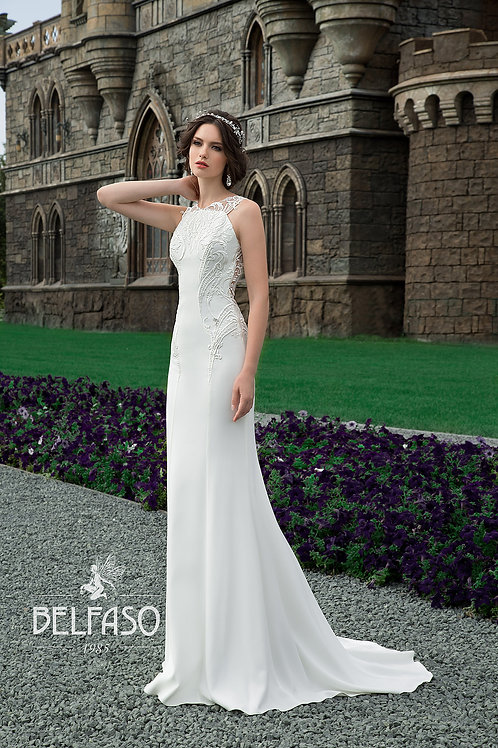 Selia Belfaso Sheath Wedding Gown- IN STOCK