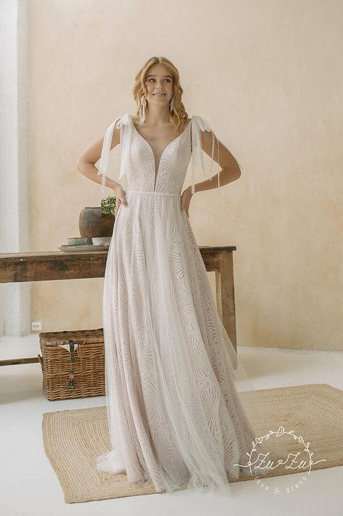 Narcy Zuzu Sheath Wedding Dress- To Order