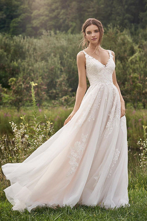 66142 Lillian West A-line Wedding Dress- In Stock