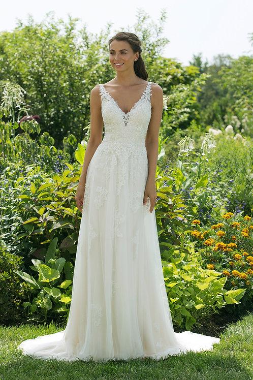 11031 Justin Alexander Sheath Wedding Dress- IN STOCK