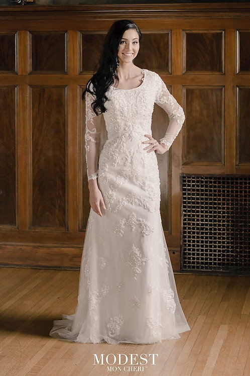 TR22061 Modest by Mon Cheri Fit & Flare Wedding Dress- To Order
