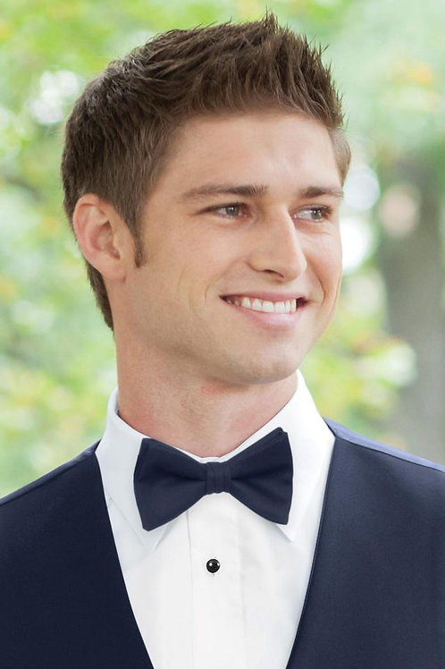 Matching Navy Wool Bow Tie