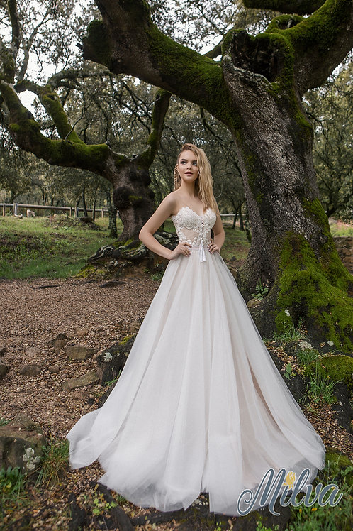 Lara Milva A-Line Wedding Dress- To Order