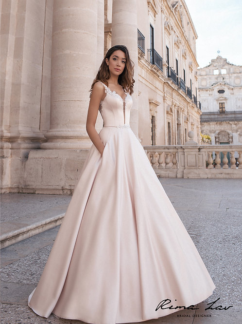 Cameron Rima Lav A-line Wedding Gown- IN STOCK