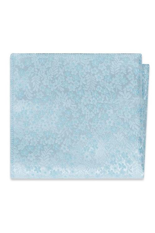 Sky Blue Floral Pocket Square
