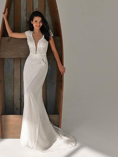 Birgit Belfaso Sheath Wedding Dress- To Order