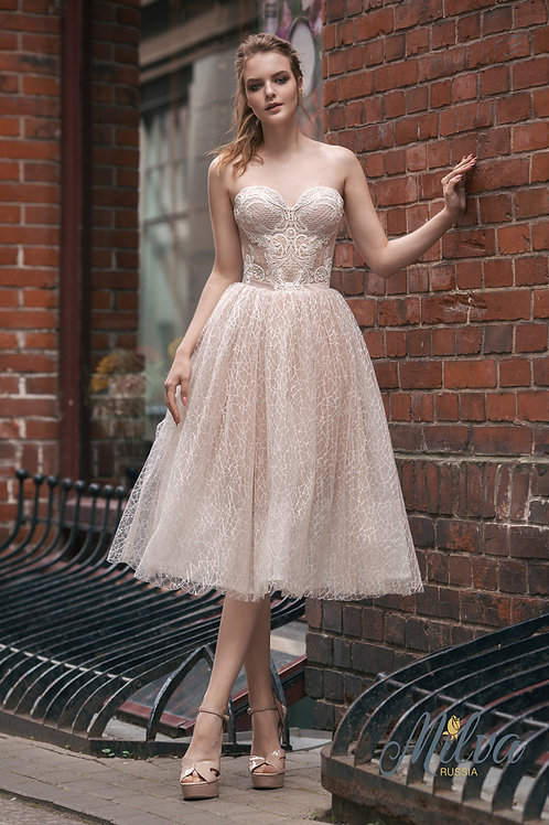 Maya Milva A-Line Short Wedding Dress- To Order
