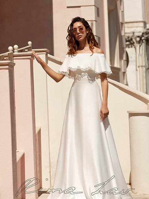 Glace Rima Lav A-Line Wedding Dress- To Order