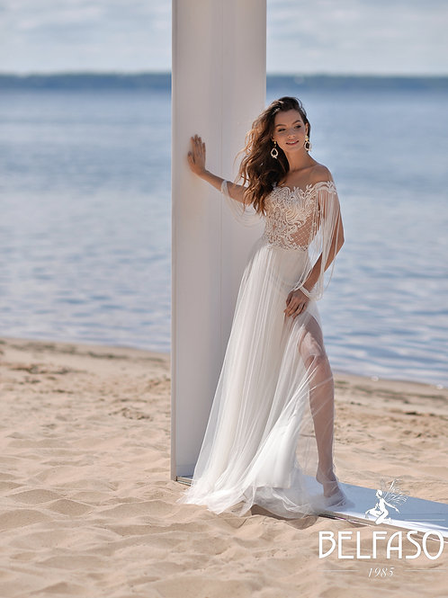 Ivy Belfaso Sheath Wedding Dress- To Order