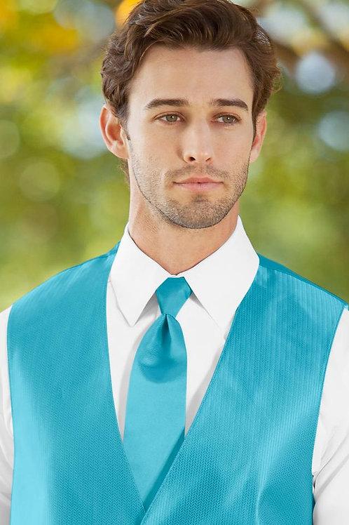 Solid Herringbone Malibu Windsor Tie