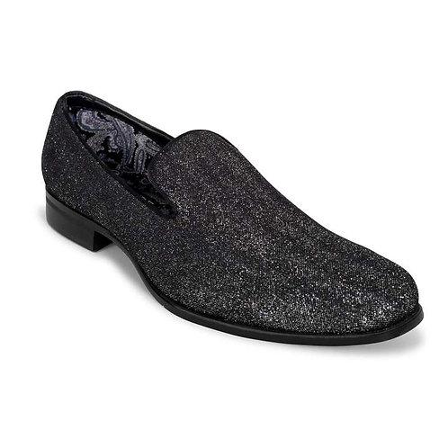 Charcoal Subtle Sparkle Formal Shoe- For Purchase