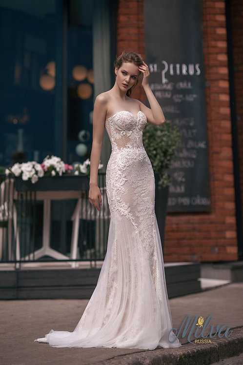 Amata Milva Fit & Flare Wedding Dress- To Order