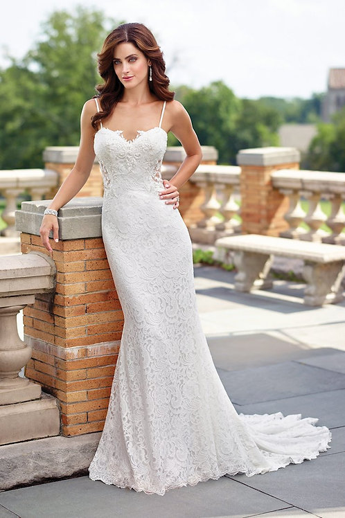 117190 Enchanting Sheath Wedding Dress- In Stock