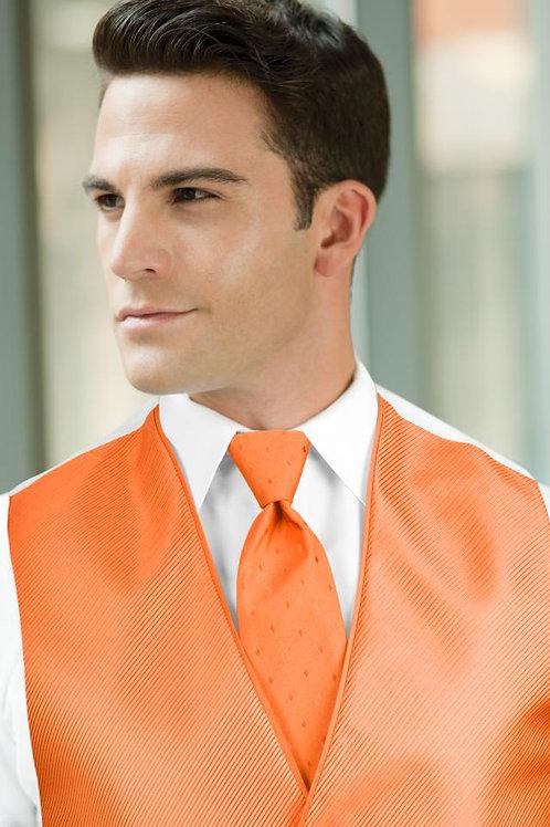 Diamond Synergy Bright Orange Windsor Tie