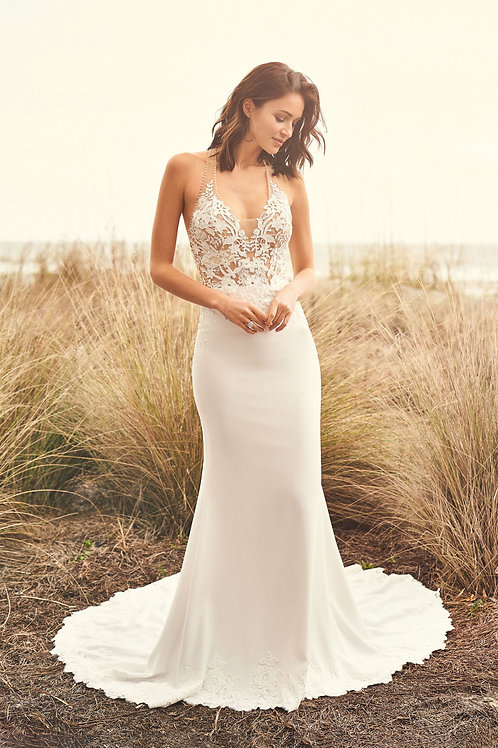 66092 Lillian West Fit & Flare Wedding Dress- To Order