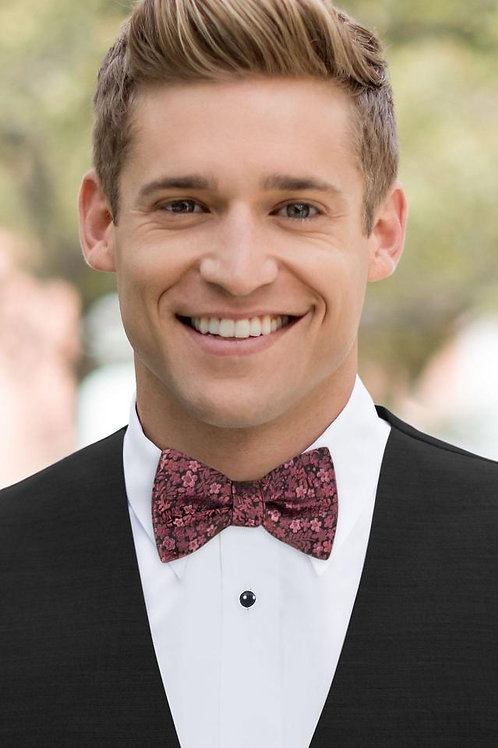 Rosewood Floral Bow Tie