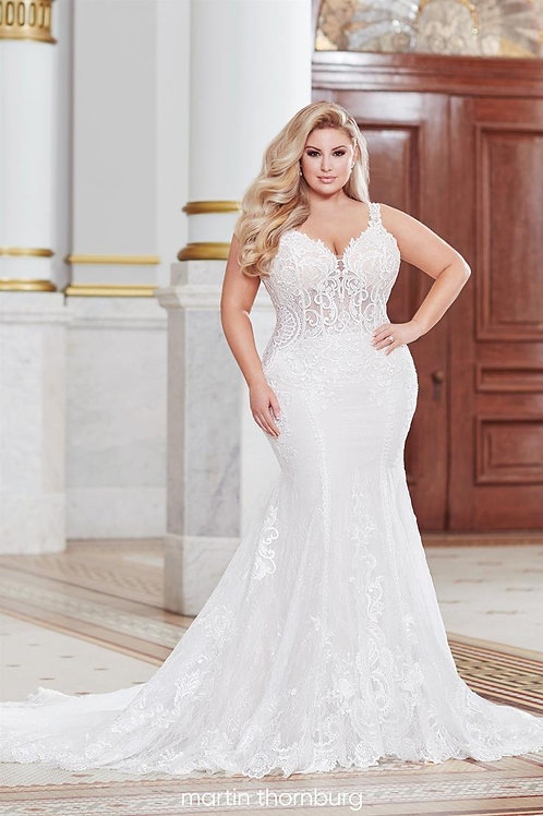 Lorne 220266 Martin Thornburg Fit & Flare Wedding Dress-In Stock