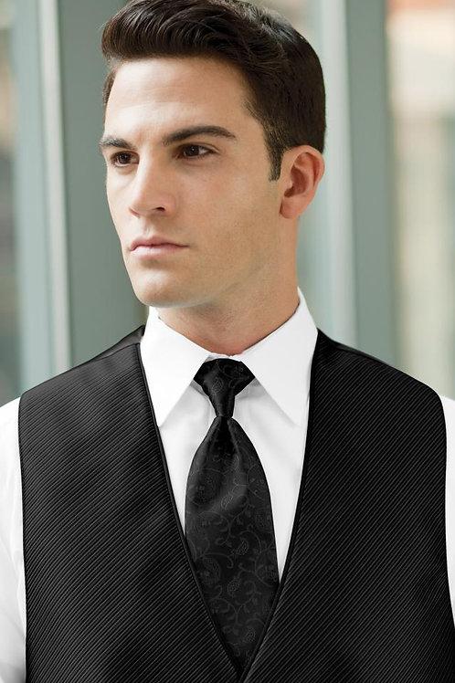 Vine Synergy Black Windsor Tie