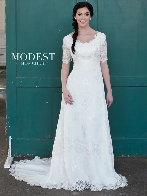 TR21853 Modest by Mon Cheri A-line Wedding Dress-In Stock